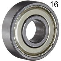 0.2812 Width Double Shield 1//4 ID 5//8 OD Peer Bearing 77R4A  R-Series Radial Bearing