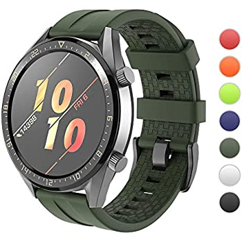Amazon.com: for Huawei Watch GT Band with Case, Silicone ...