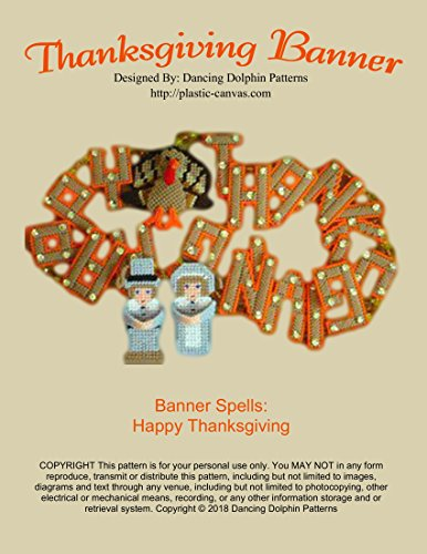 Thanksgiving Banner: Plastic Canvas Pattern -