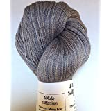 Artisan Yarns Hand Dyed Alpaca Silk Yarn, Solid Mouse Grey, Lace Weight, 100 Grams, 875 Yards, 70/30 Baby Alpaca/Mulberry Silk