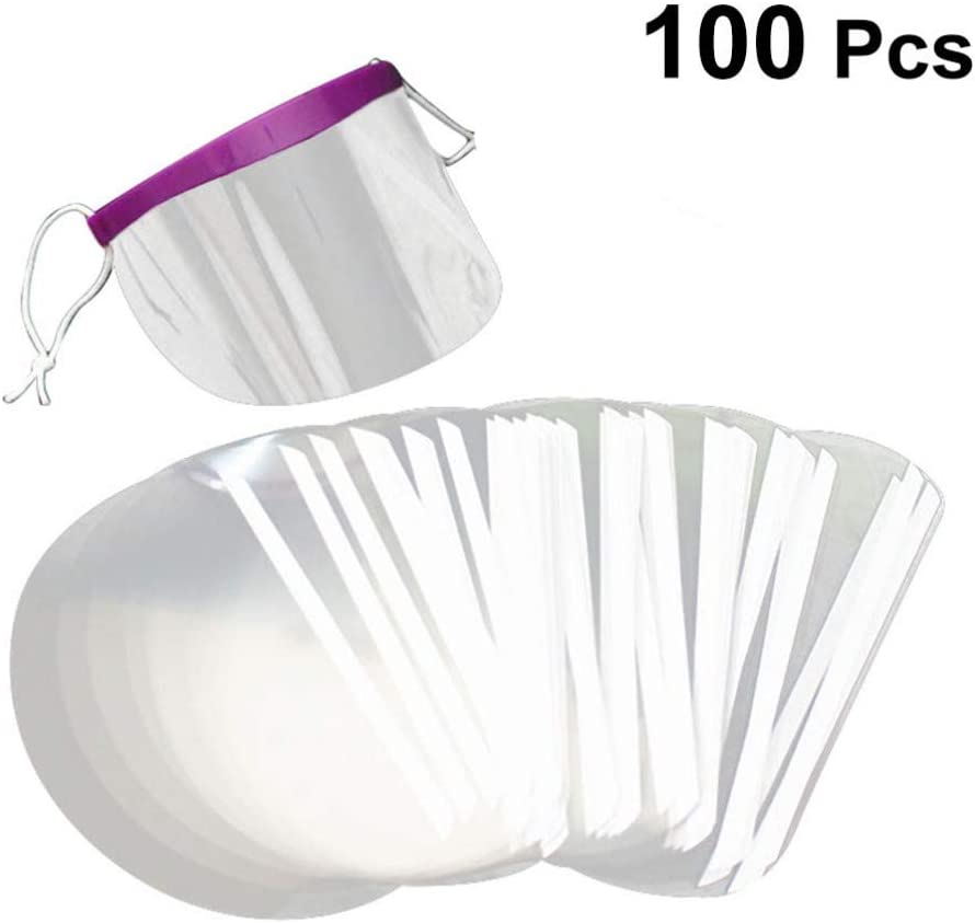 Disposable Face Protectors Salon Baffle Plastic Transparent Eye Protector Eyeshield Hair Cutting Cover 100pcs