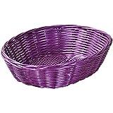 Kesper 19872 9.84'' Bread basket of round plastic mesh, Purple