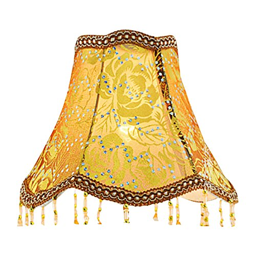 Eastlion Creative Jacquard and Bead 25-30cm Retro Palace Pendant Handmade Pendant UNO lampshade for Table Lamps,Floor Lamps,Wall Lamps 51YUIDTp6qL