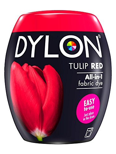 Pod Tulip (Dylon Machine Dye Pod, Tulip Red, Easy-to-use Fabric Colour For Laundry, 350g)
