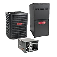 Goodman R410A 13 SEER Complete Split System AC & Gas 2.5 Ton GSX130301, CHPF2430B6, GMH80604BN