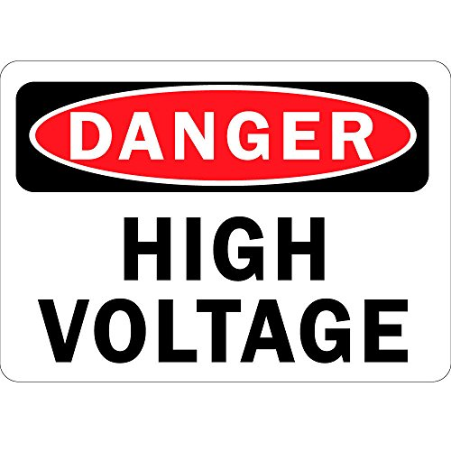 (Danger High Voltage OSHA Metal Aluminum Sign 7 in x 10 in Custom Warning & Saftey Sign Pre-drilled Holes for Easy)