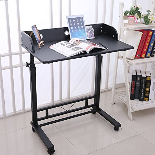 937755428f4f Height Adjustable Rolling Laptop Desk Table Computer Desk for ...