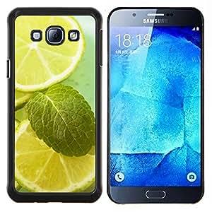 TECHCASE---Cubierta de la caja de protección para la piel dura ** Samsung Galaxy A8 ( A8000 ) ** --Naturaleza Hermosa Forrest Verde 122