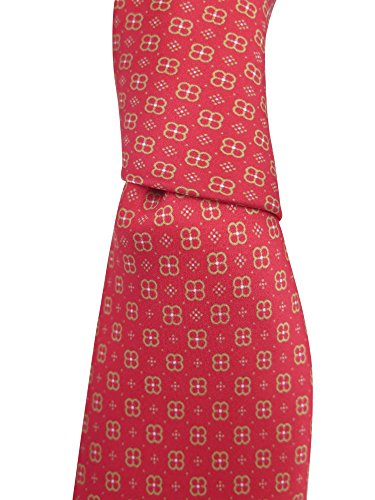 Brioni Men's Red Silk Geometric Neck (Brioni Mens Silk Tie)