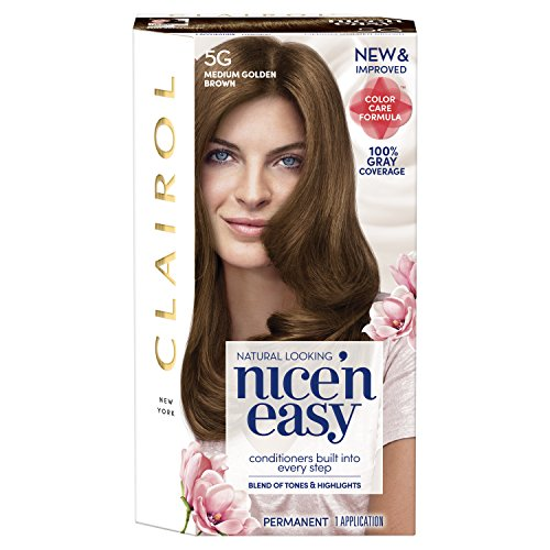 Clairol Nice 'n Easy Hair Color 117/5G Medium Golden Brown 1 Kit (Pack of 3) (PACKAGING MAY (Clairol Hair Color Chart)
