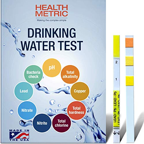 Drinking Water Test Kit for Home Tap and Well Water - Easy to Use Testing Strips for Lead Bacteria pH Copper Nitrate Chlorine Hardness and More | Made in The USA in Line with EPA Approved Limits