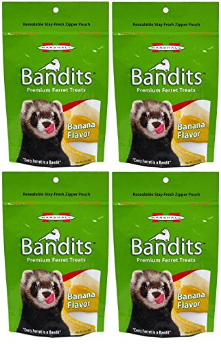 - Marshall Bandits Ferret Treat, 3-Ounce, Banana (Pack of 4)