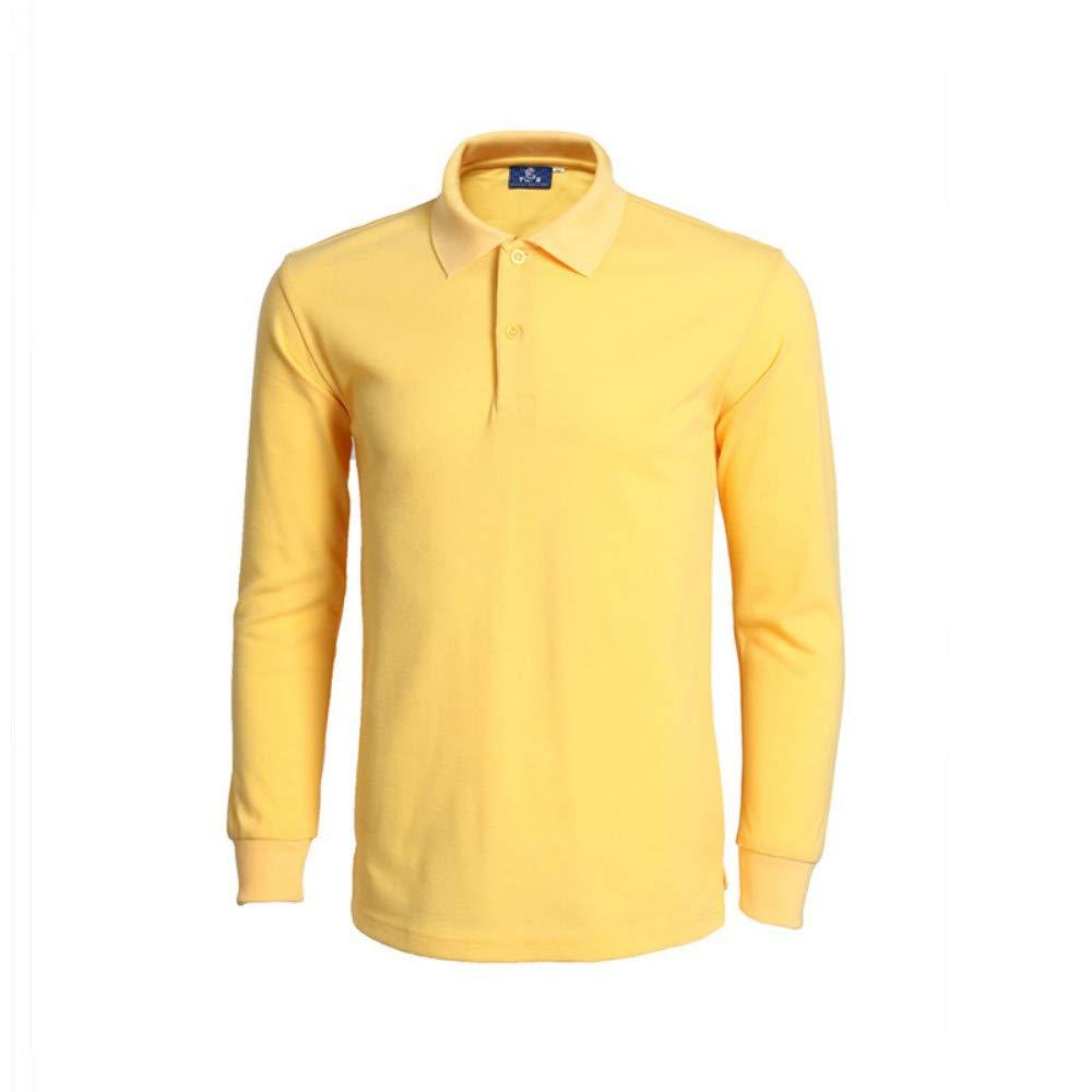 NISHIPANGZI Polo Shirt Mens Moda Casual Camisetas Polo Manga Larga ...