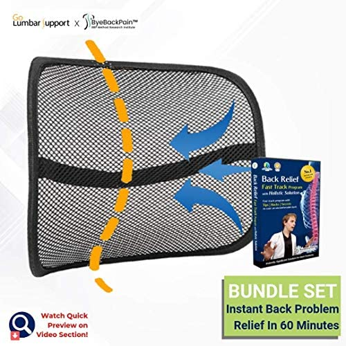 Bundle Set Go Lumbar Support with Back Relief Fast Track Program Complete Guidance by Experts from BBP Method TM Research Institute