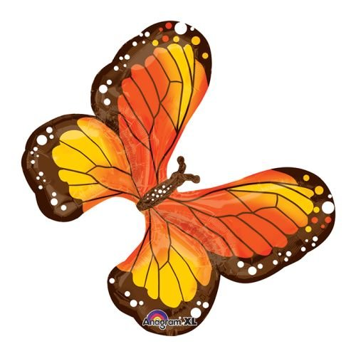 Colored Beautiful Multi (Anagram 31385 Beautiful Monarch Butterfly Foil Balloon, 31