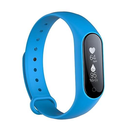 Amazon.com: Bluetooth smartwatch 0.87 OLED reloj Inteligente de La presión Arterial/física Pulsómetro pulsera Android IOS banda inteligente pulsera ...