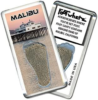 product image for Malibu FootWhere Souvenir Fridge Magnet. Made in USA (MBU206 - Ocean Diner)