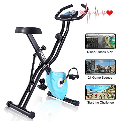 🥇 Profun Bicicleta Estática Plegable App 10 Niveles de Resistencia Magnética
