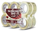 Red Frog 2.0 mil 1.88'' x 110 yards Super Clear, Low Noise Packaging Tape 12 Rolls
