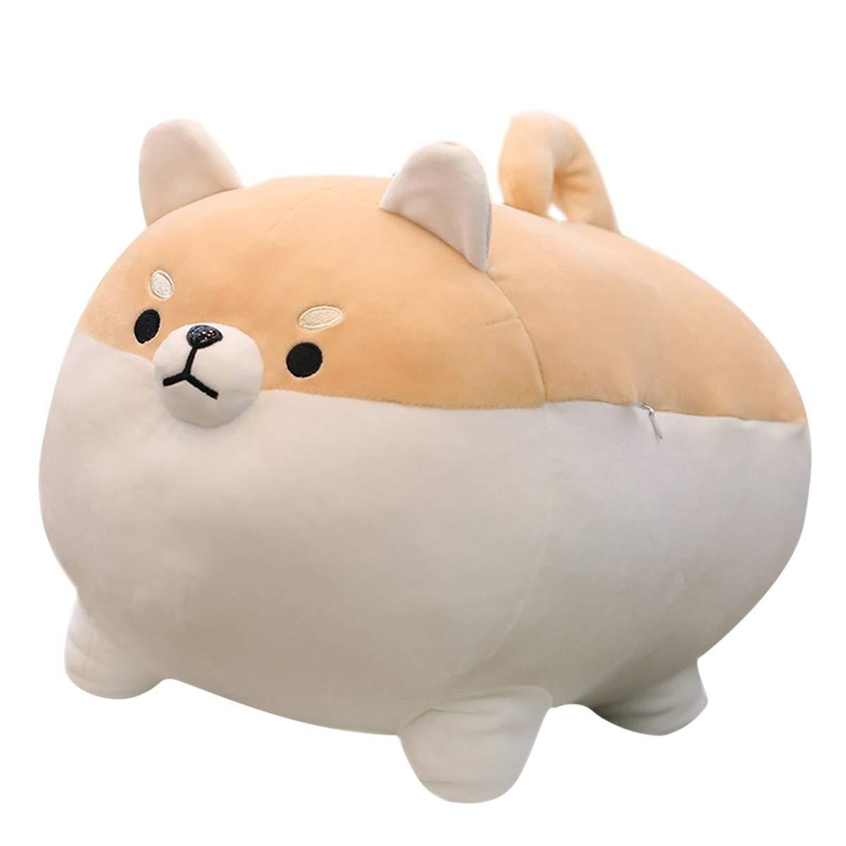 Rose Auroma 16'' Shiba Inu Plush Corgi Plush Stuffed Animal Kawaii Plush Soft Pillow Doll Dog, Dog Plush Toy Gifts for Family, Friends, Kids (Brown) by Rose Auroma