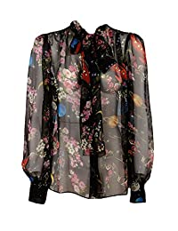 Dolce&Gabbana women's shirt long sleeve blouse black US size 42 (US 6) F5I47THS1O8HNG80