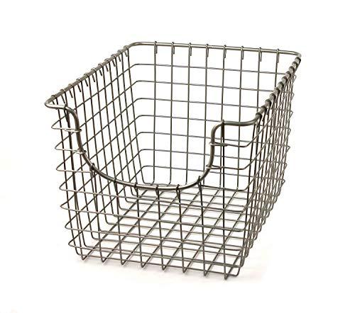 - Spectrum Diversified Scoop Storage Basket, Small, Satin Nickel