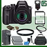 Samsung NX30 Mirrorless Digital Camera with 18-55mm f/3.5-5.6 OIS Lens + 16GB Green's Camera Bundle 2