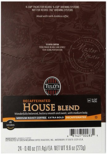 Caf ? Coffee (Tully's Coffee Decaf House Blend K-Cup for Keurig Brewers (Pack of 96))