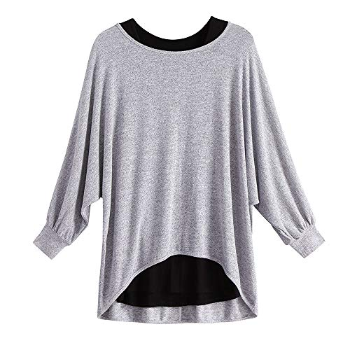 YANG-YI Clearance Sale Women's Fashion Long Sleeve Two Pieces Vest+T Shirt Set Casual Tops Blouse by YANG-YI (Image #1)