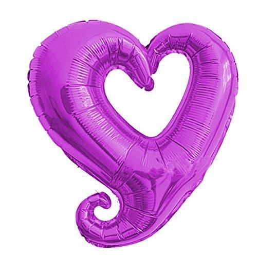 eDealMax Foil Disegno del Cuore gonfiaggio del palloncino da Festa di nozze celebrazione decorazione 14,6 pollici Viola