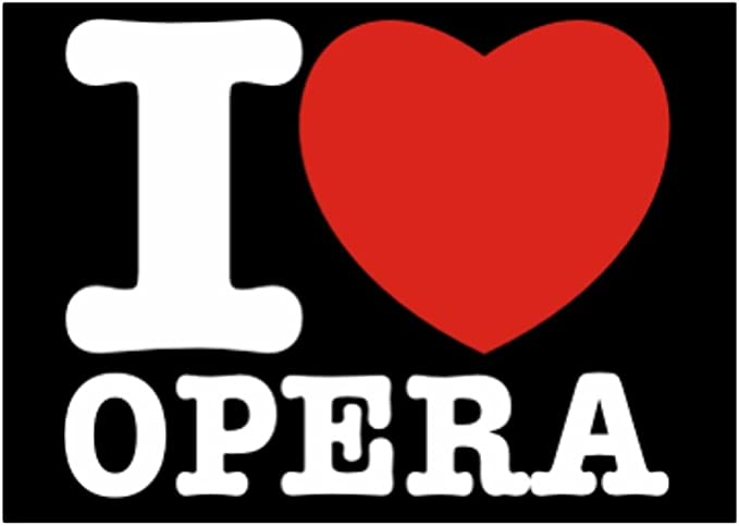 Teeburon I Love Opera Pack de Pegatinas x4: Amazon.es: Hogar