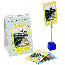 Katia 11 Piece of Fujifilm Instax Mini 8 Accessories (Case/ Albums/ Close Up Lens/ Filters/ Stickers/ Frame/ Cleaning Cloth/ Pen/ Photo Holder) for Fujifilm Instax mini 8/ 8+/ 9 Camera (Flowers)
