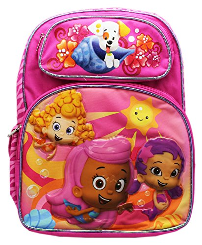 Nickelodeon Full Size Pink Molly, Oona, and Deema Bubble Guppies Backpack]()