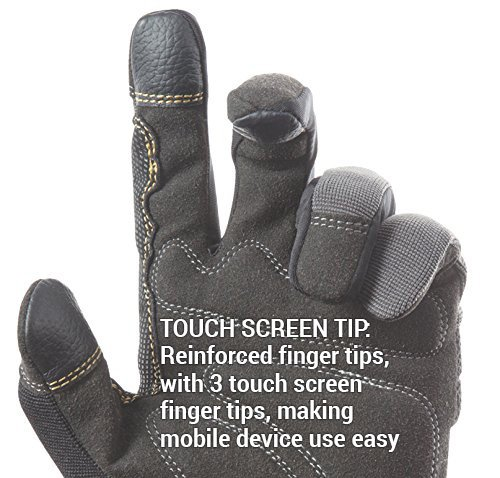 MagnoGrip Touchscreen Mechanic Safety Work Glove+Magnetic Finger Tip Pickup Tool