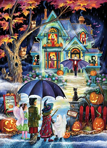 Fright Night Halloween Jigsaw Puzzle 1000 Piece White -