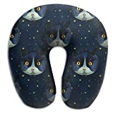 Artistic Cat Lightweight Neck Pillow Comfortable For Boy Driving Spa Memory Foam U Shaped Soft Neck Pillow