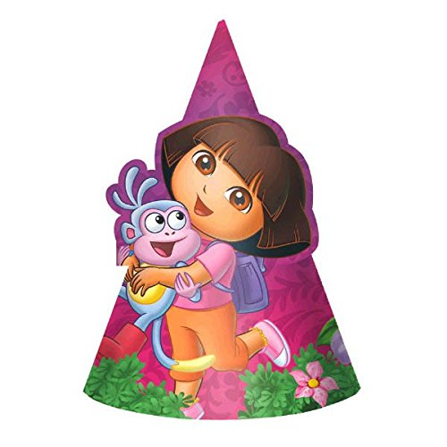 American Greetings Dora The Explorer Hats Party Supplies (8