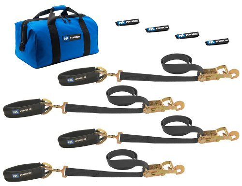 - Mac's Tie-Downs 511618 Black Pro Pack with 8' x 2