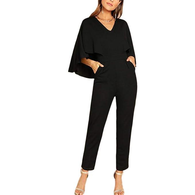 Amazoncom Kecjmx Lady Going Out Party Black Elegant V Neck