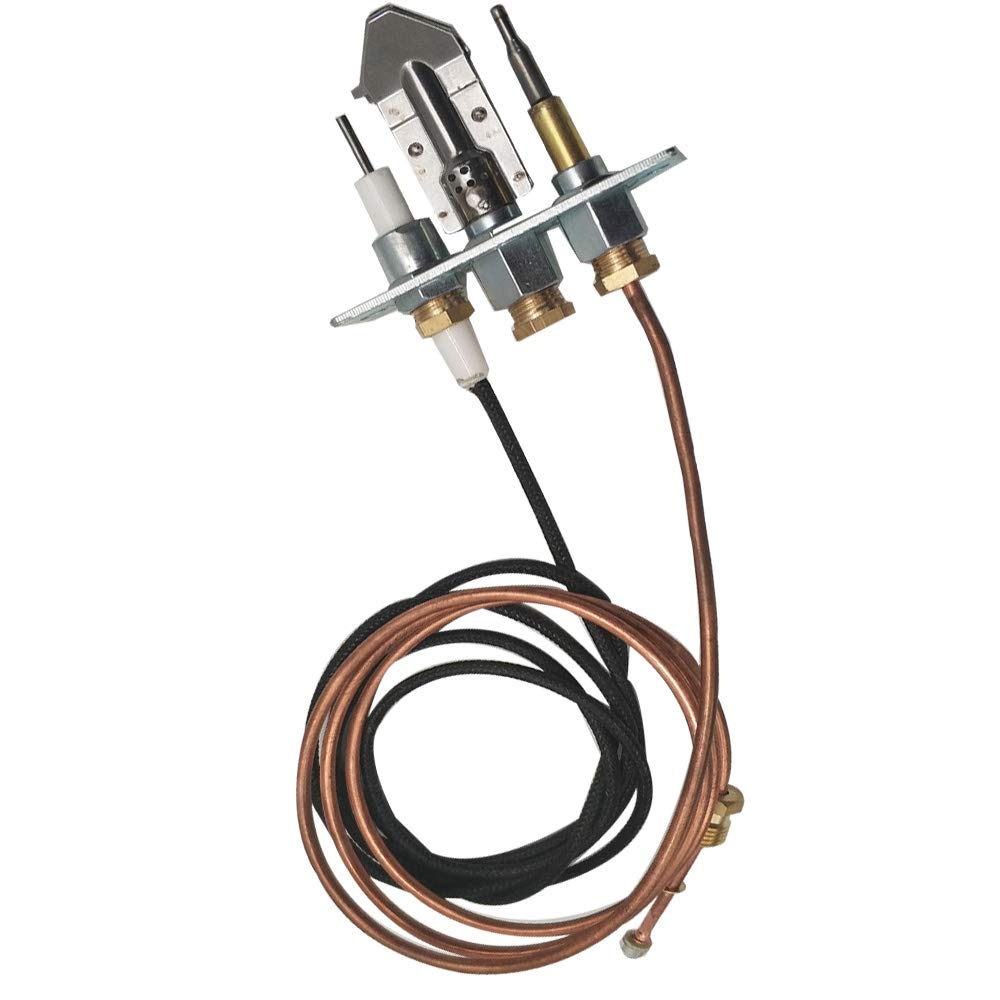 MENSI Safety Natural Gas Pilot Burner Flame Assembly Kit Igniter with Thermocouple M9x1 by MENSI