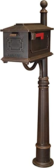 Amazon Com Kingston Curbside Mailbox With Ashland Mailbox Post Unit Color Copper Home Improvement
