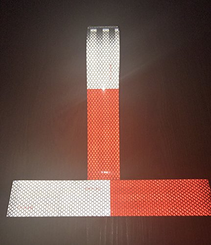 Knit Reflective Tape 2'' X30' Red White DOT-C2 High Intensity Grade - Conspicuity Safety Warning Tape for Cars Reflector Tape - 2 inch Waterproof Trailer Reflector Tape 1 Roll by Knit (Image #2)