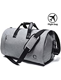 Carry on Garment Bags Business Suit Bag Travel Duffle Garment Bags Hanging Suitcase Suit Travel Bags for Men and Momen Oversized Flight Bag(Gary)
