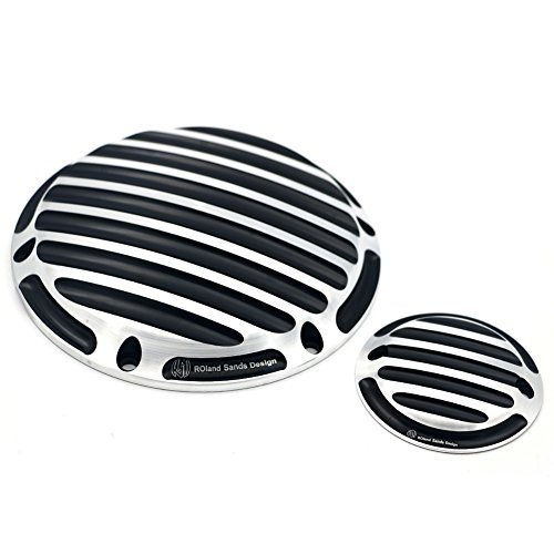 (Motofans Chrome Deep Finned Timing Timer Derby Cover Billet CNC Aluminum Motorcycle For Harley Sportster XL 883 1200)