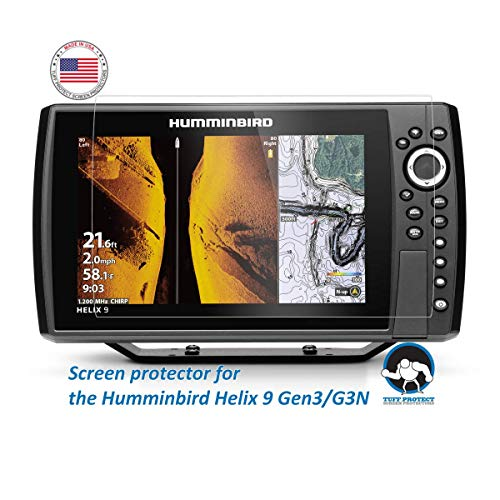 Anti-Glare Screen Protectors for Humminbird Helix 9 Gen3 G3N Fish Finder - Tuff Protect