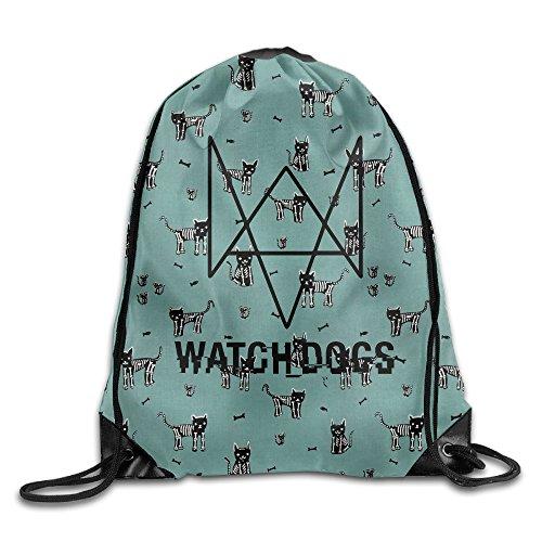 IYaYa Watch Dogs Drawstring Backpack Travel - Americas Kors Las Michael