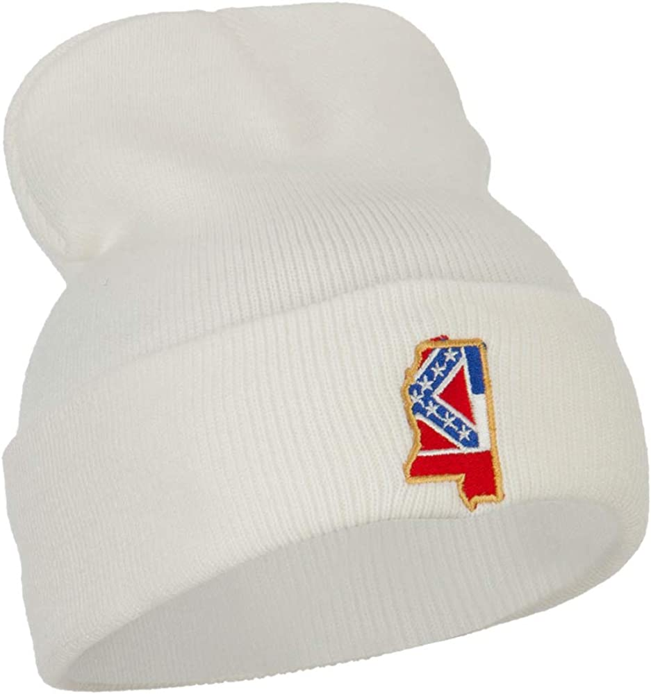e4Hats.com Mississippi State Flag Map Embroidered Long Beanie