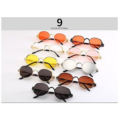 la Steampunk Gu C8 Primavera Gafas C1 la Estilo Sol la de Color Decoración de de de de Peggy del Vendimia XOq1dd
