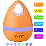 YCTA 200ml Aroma Essential Oil Diffuser,Creative Eggs Shape Ultrasonic Cool Mist Humidifier for Home Bedroom Office Living Room Study Yoga Spa (Orange)