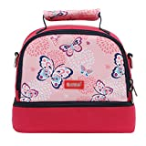 Portable Baby Bottle Insulated Bag Lunch Bag Picnic Handbag for Travel and Stroller (rose red)